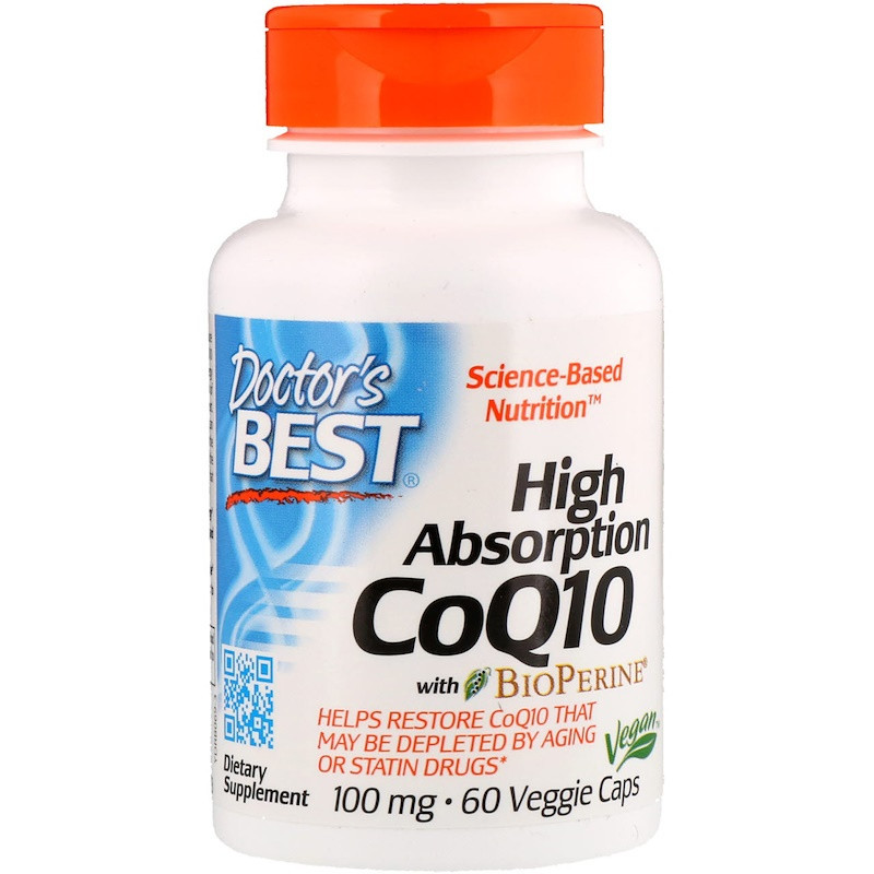 Doctor's Best, High Absorption CoQ10 with BioPerine, 100 mg